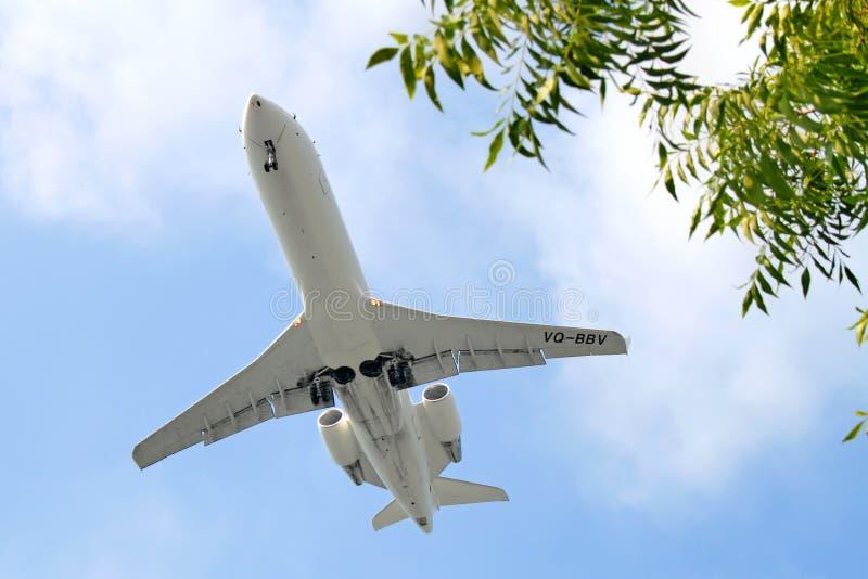 RusLine Canadair regionalności strumień CRJ-200ER obraz royalty free