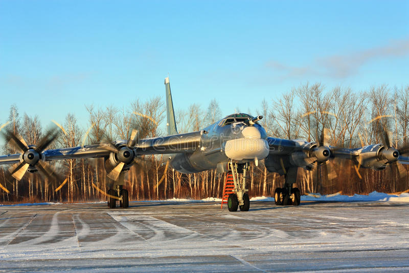 ` Ruso del oso del ` del bombardero Tu-95 fotos de archivo libres de regalías