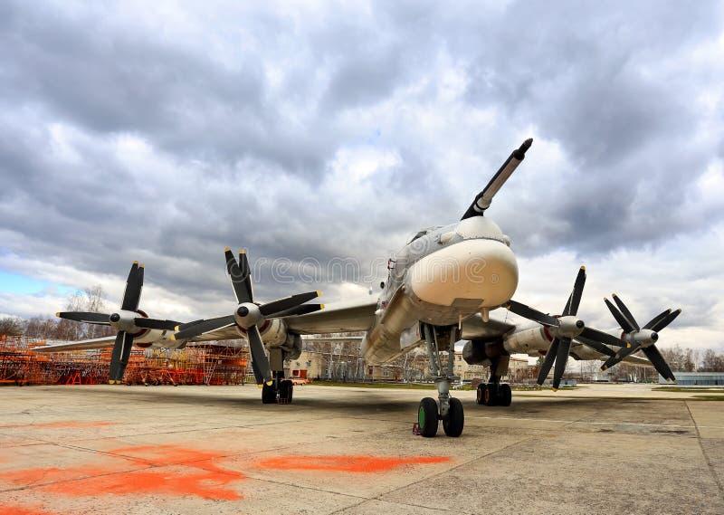 ` Ruso del oso del ` del bombardero Tu-95 imagen de archivo