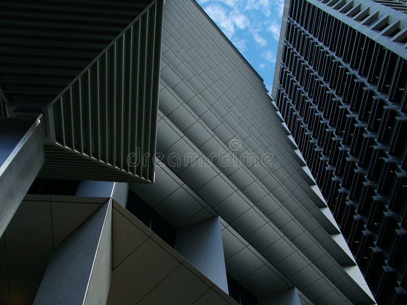 Ruspe spianatrici del cielo della città fotografia stock libera da diritti