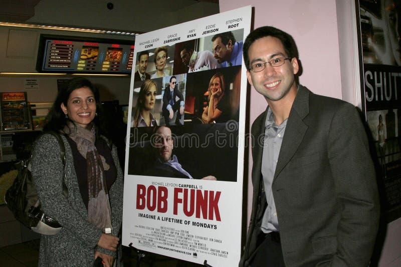 Russ Manuel en la premier de Los Ángeles del ?miedo de Bob?. Teatros de la puesta del sol 5 de Laemmle, Los Ángeles, CA 02-27-09 imagen de archivo