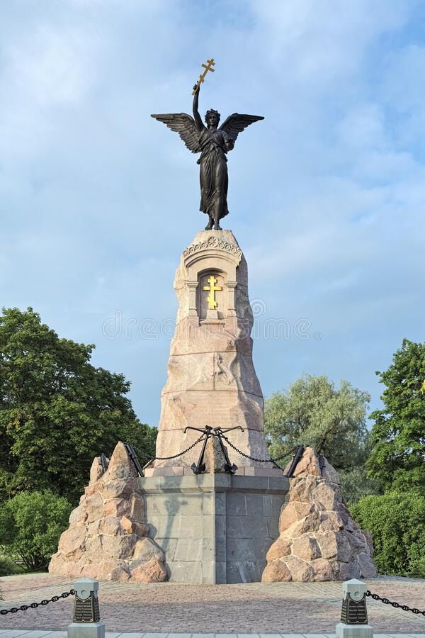 Russalka Memorial in Tallinn, Estland stock afbeelding