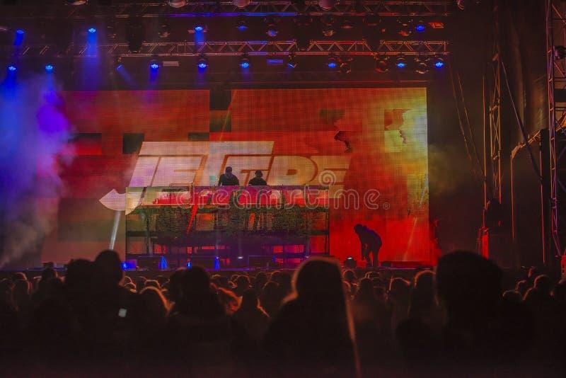 Russe会议(见面的国家)在Fredriksten堡垒2015年(音乐节目主持人) 库存照片