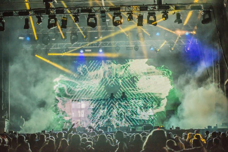 Russe会议(见面的国家)在Fredriksten堡垒2015年(音乐节目主持人) 库存图片