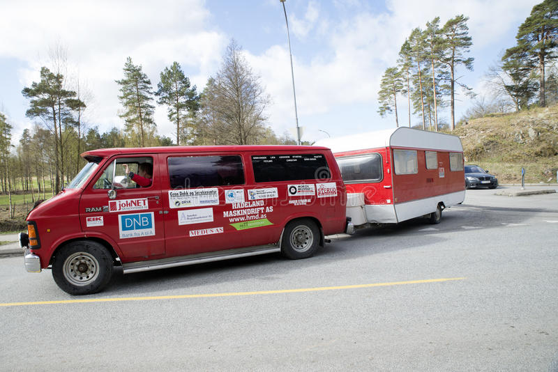 Russe会议(见面的国家)在Fredriksten堡垒2015年(Russe车) 库存照片
