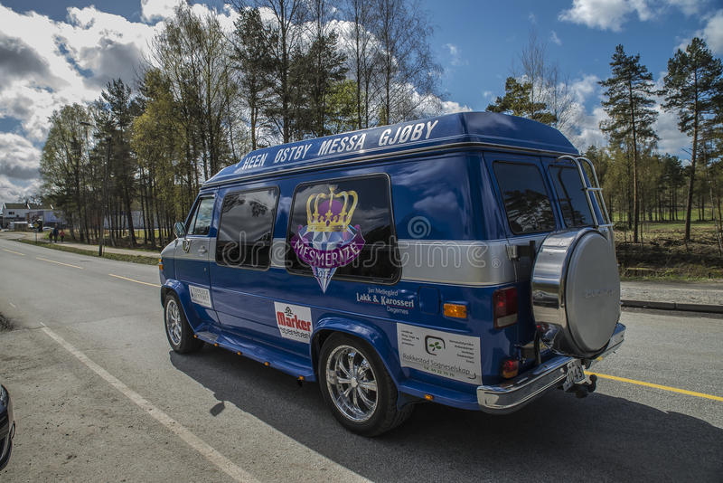 Russe会议(见面的国家)在Fredriksten堡垒2015年(Russe车) 免版税库存照片