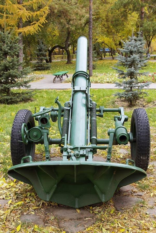 Russe divisionnaire model 1943 de mortier de 160 millimètres photos libres de droits