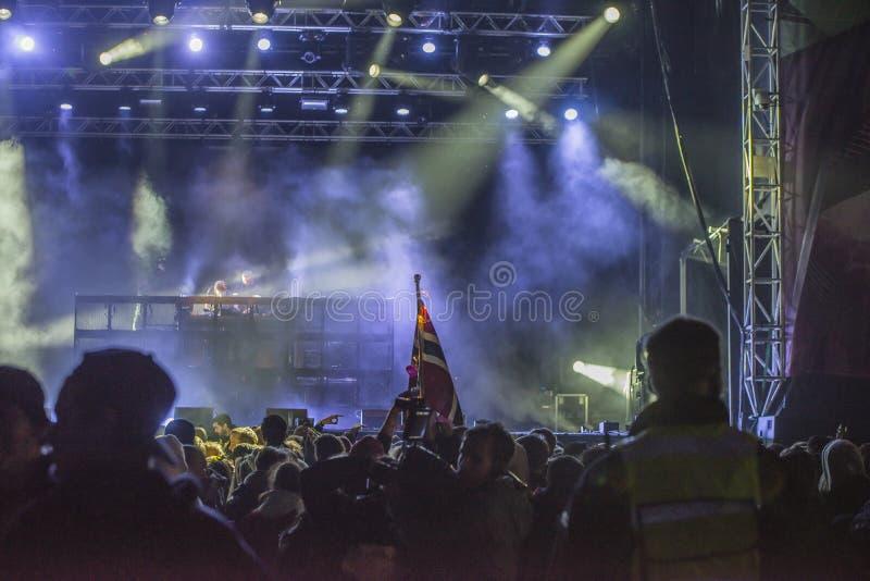Russe möte (länder som möter) på den Fredriksten fästningen 2015 (diskjockeyn) royaltyfri bild