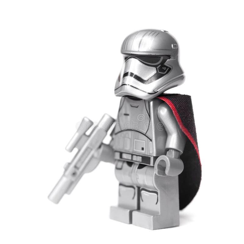 RUSSE, SAMARA, AM 16. JANUAR 2018 Erbauer Lego Star Wars Boba Fett Kopfgeldjäger und Han Solo stockbild