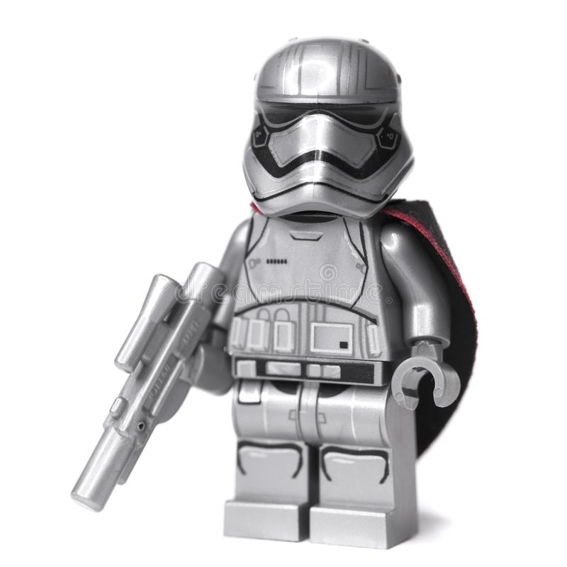 RUSSE, SAMARA, AM 16. JANUAR 2018 Erbauer Lego Star Wars Boba Fett Kopfgeldjäger und Han Solo lizenzfreie stockbilder
