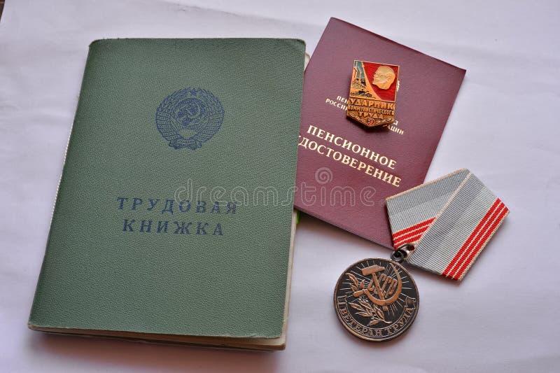 Russearbeits-Registerlogbuch stockfoto