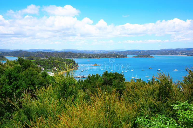 Russell and Bay of Islands, New Zealand. Perfect water view. Russell and Bay of Islands, New Zealand stock photography