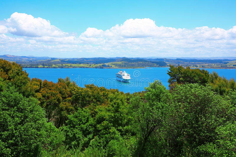 Russell and Bay of Islands, New Zealand. Perfect water view. Russell and Bay of Islands, New Zealand stock image