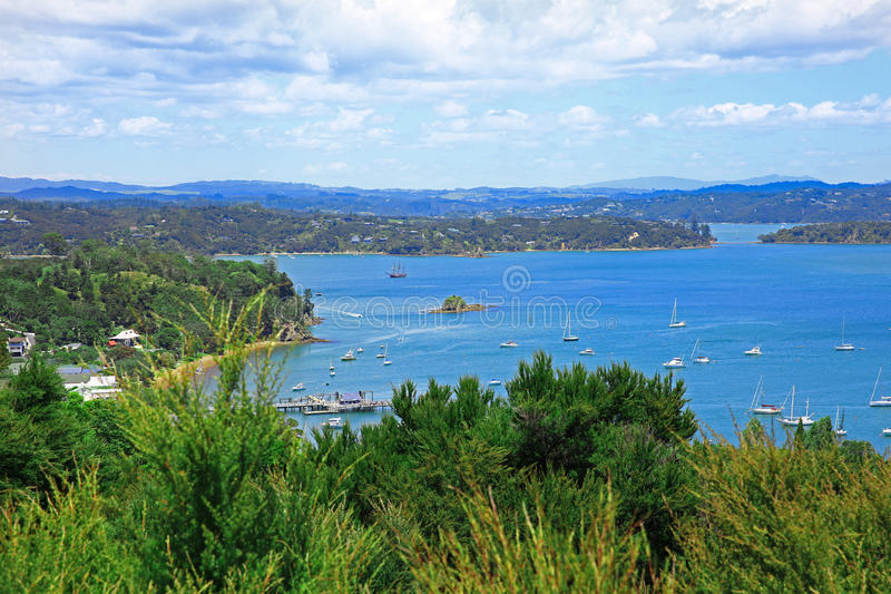 Russell and Bay of Islands, New Zealand. Perfect water view. Russell and Bay of Islands, New Zealand stock photos