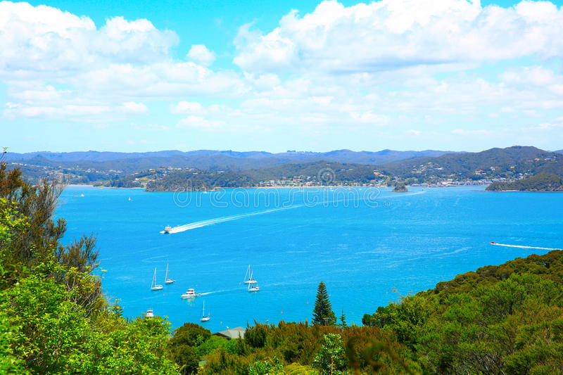Russell and Bay of Islands, New Zealand. Perfect water view. Russell and Bay of Islands, New Zealand royalty free stock photos