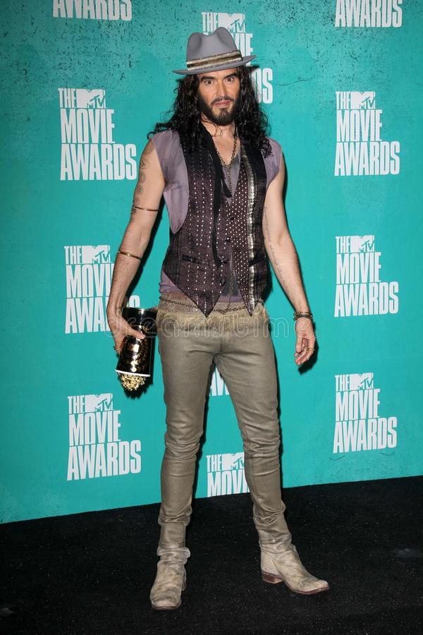 Russell Brand at the 2012 MTV Movie Awards Press Room, Gibson Amphitheater, Universal City, CA 06-03-12 royalty free stock images