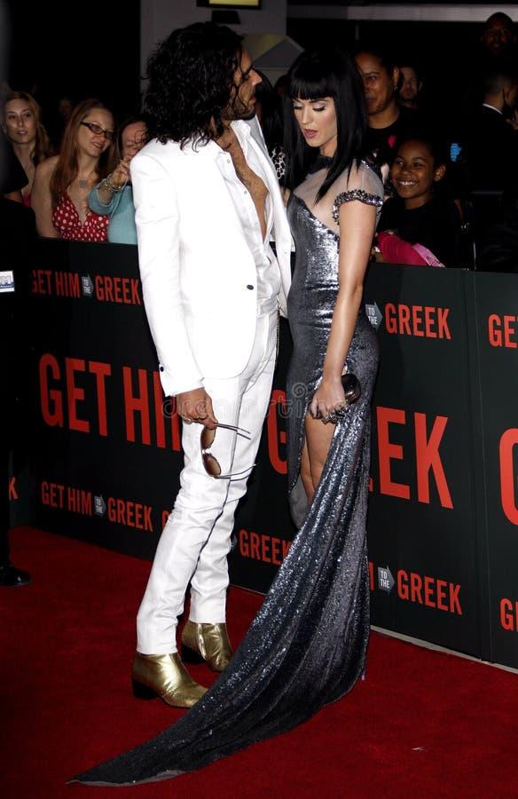 Russell Brand e Katy Perry fotografie stock libere da diritti