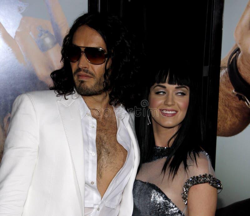 Russell Brand en Katy Perry royalty-vrije stock foto's