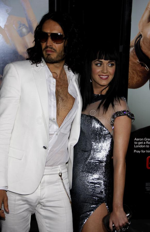 Russell Brand und Katy Perry stockfotos