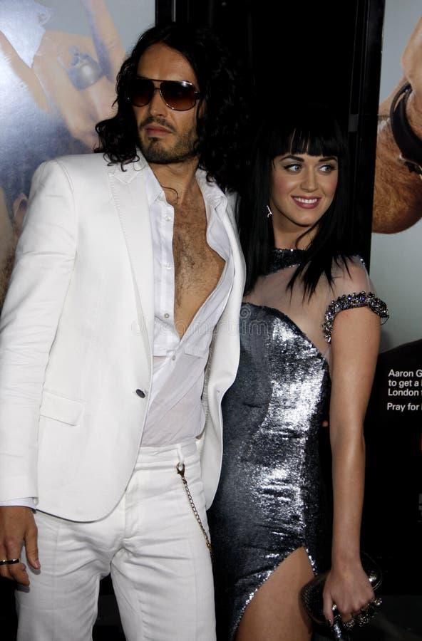 Russell Brand y Katy Perry foto de archivo