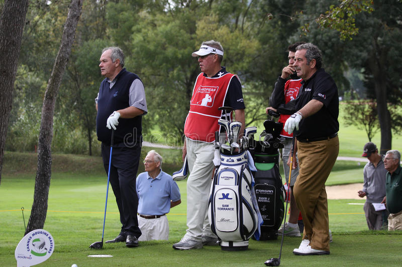 Russell et Torrance Cannes-Mougins Seniors Masters royalty free stock image