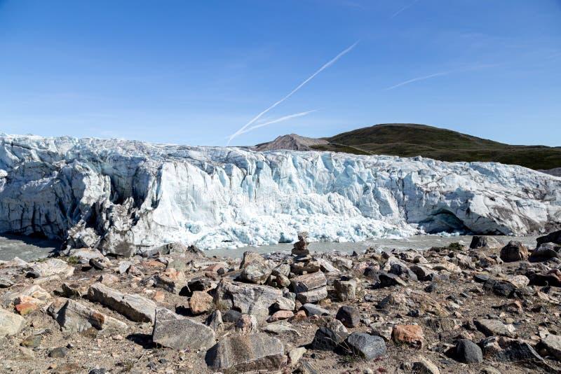 Russell Glacier au Groenland images libres de droits