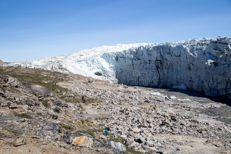 Russell Glacier in Groenland royalty-vrije stock foto's