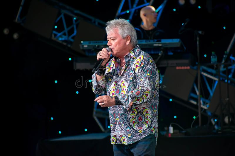 Russell Hitchcock  from air supply, singing beautiful melody at Epcot in Walt Disney World 9. Orlando, Florida. March 26, 2019. Russell Hitchcock  from air stock image