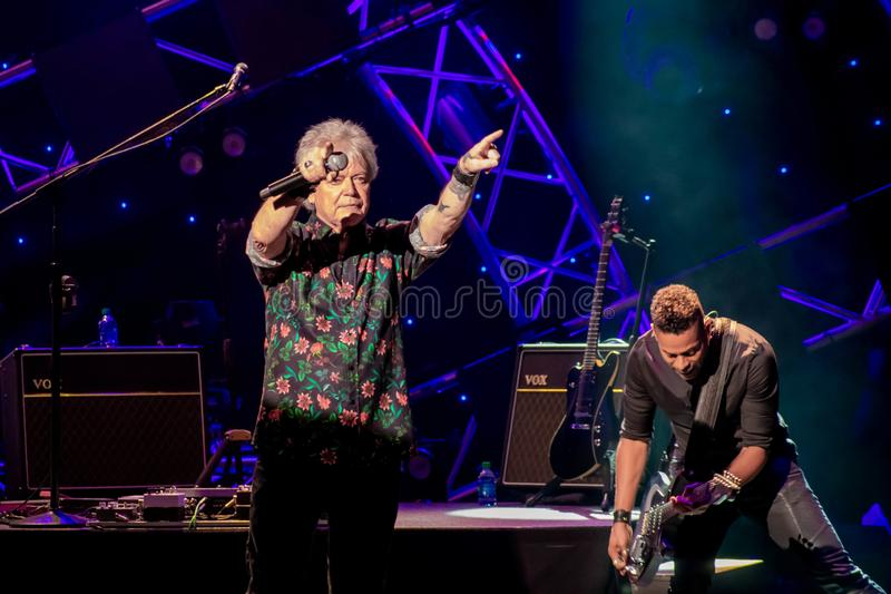 Russell Hitchcock  from air supply, singing beautiful melody at Epcot in Walt Disney World 13. Orlando, Florida. March 26, 2019. Russell Hitchcock  from air stock images