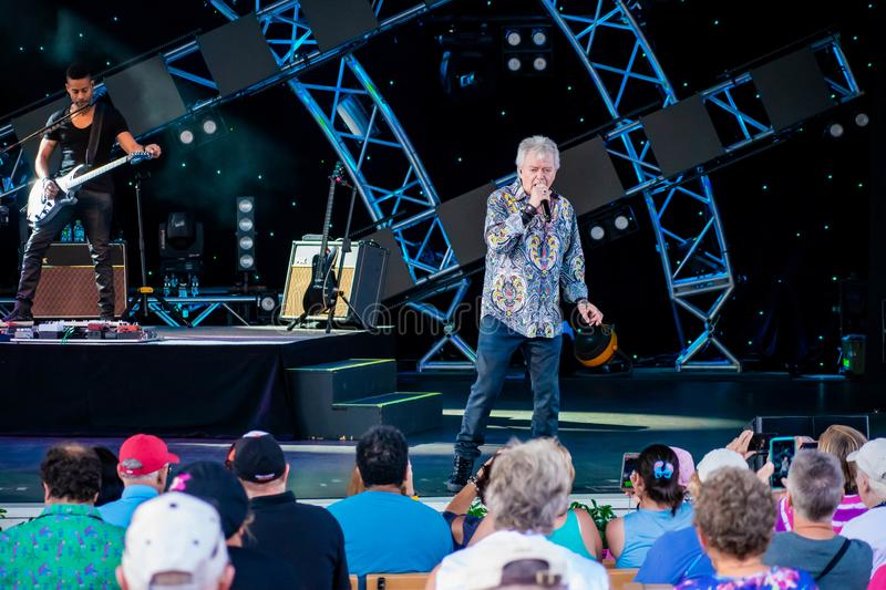Russell Hitchcock  from air supply, singing beautiful melody at Epcot in Walt Disney World 3. Orlando, Florida. March 26, 2019. Russell Hitchcock  from air stock image