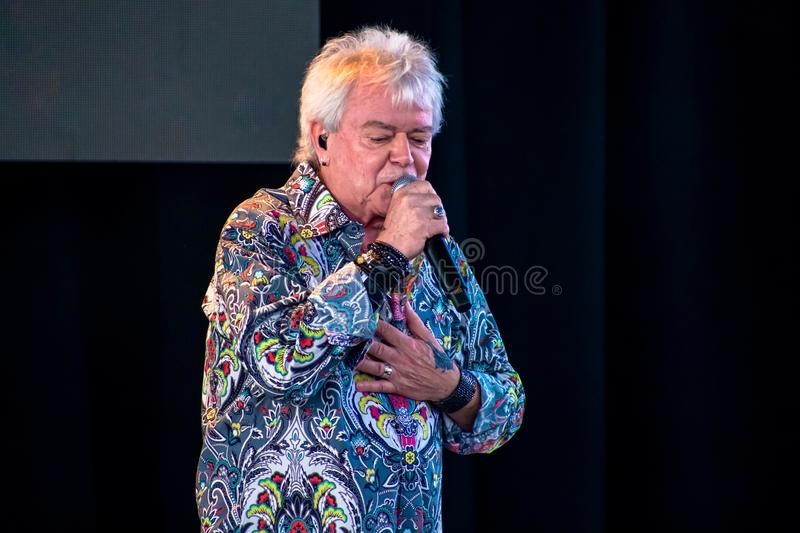 Russell Hitchcock  from air supply, singing beautiful melody at Epcot in Walt Disney World 6. Orlando, Florida. March 26, 2019. Russell Hitchcock  from air stock photo