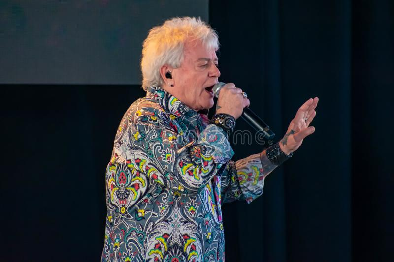Russell Hitchcock  from air supply, singing beautiful melody at Epcot in Walt Disney World 5. Orlando, Florida. March 26, 2019. Russell Hitchcock  from air royalty free stock photos