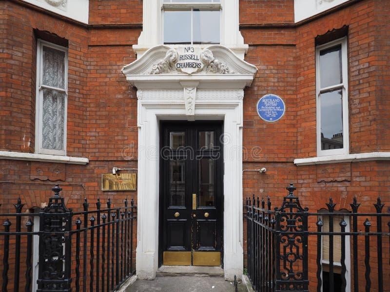 Russell hus i London royaltyfria bilder