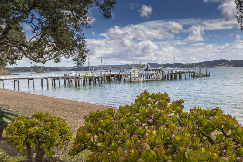 Russell near Paihia, Bay of Islands, New Zealand.  stock image