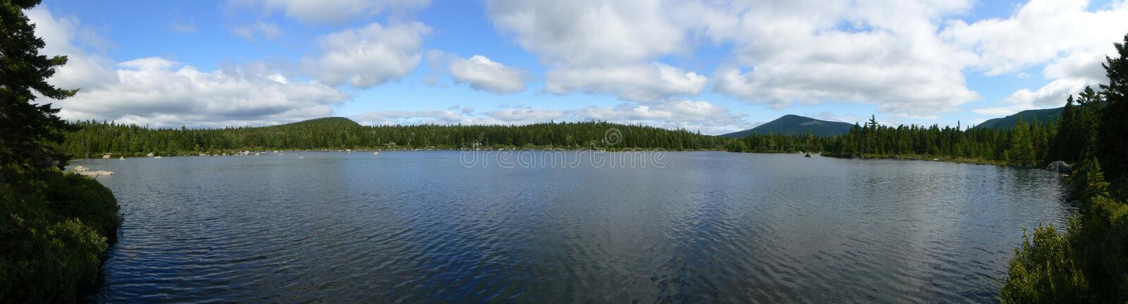 Russell Pond Panorama Royalty Free Stock Photos