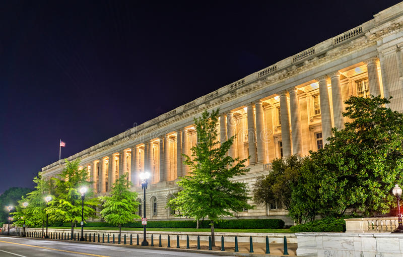 Russell Senate Office Building no Washington DC fotos de stock
