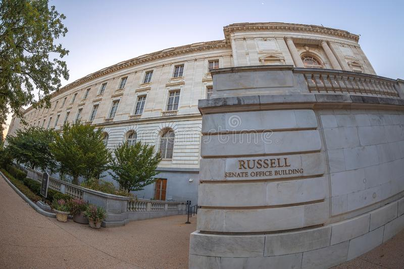 Russell Senate Office Building, Washington DC, los E.E.U.U. foto de archivo libre de regalías