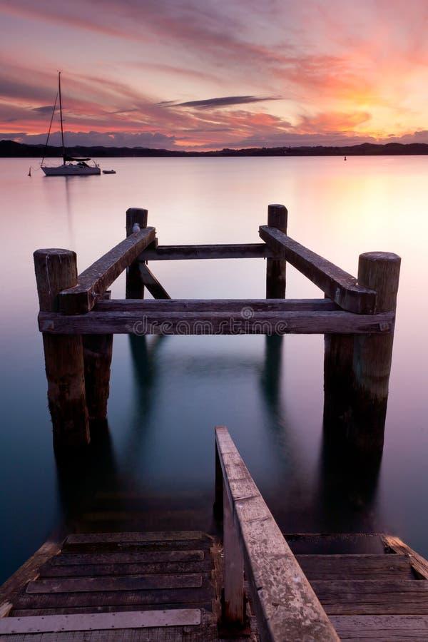russell solnedgång arkivfoto