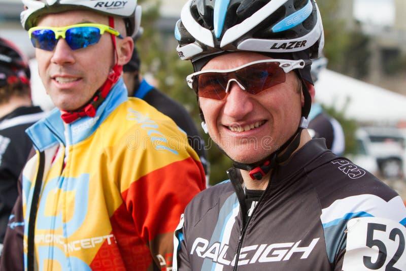 Russell Stevenson - piloto de Cyclocross dos mestres foto de stock royalty free