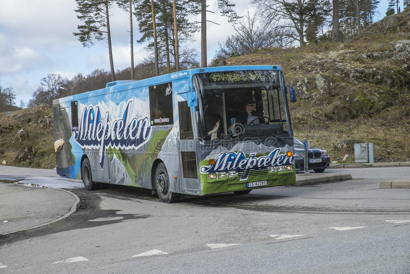 Russetreff (见面的国家)在Fredriksten堡垒2015年(Russe公共汽车) 免版税图库摄影