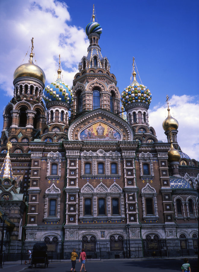 Russia-11. A beautiful old church in Russia royalty free stock photography