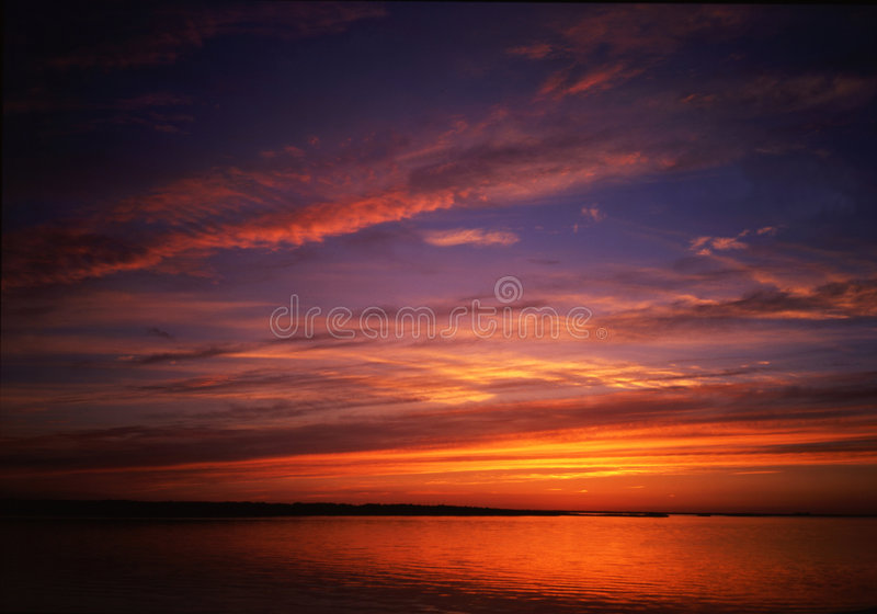 Russia-14. The Amur river sunset sight in Far East Russia royalty free stock images