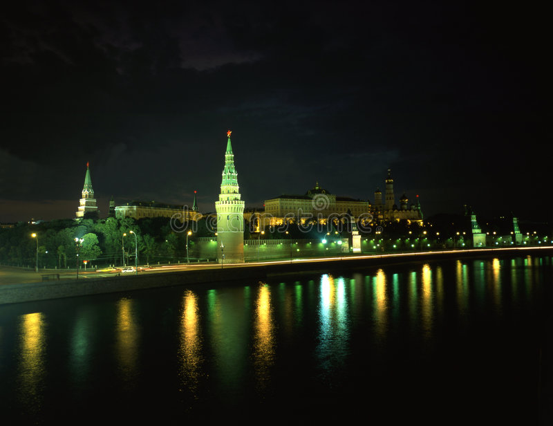 Russia-16. The Kremlin night view in Russia Moscow royalty free stock photos