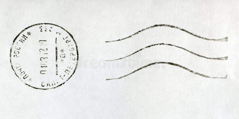 RUSSIA - 2012: black postmark stamp. RUSSIA - CIRCA 2012: black postmark stamp, Russia, St. Petersburg, circa 2012 royalty free stock photography