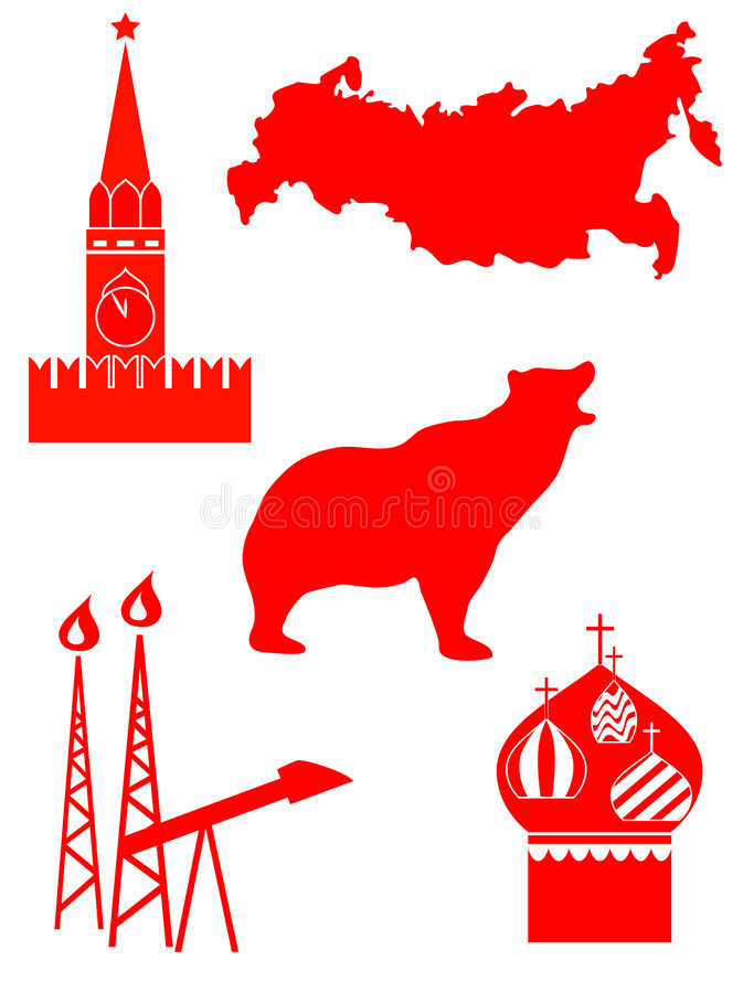 russia royaltyfri illustrationer