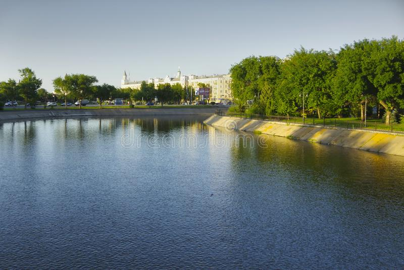 Russia. Astrakhan. View of the lake in Astrakhan city boundaries stock photos