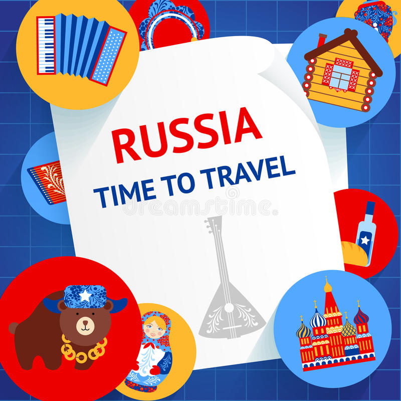 Russia background template vector illustration