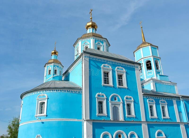 Russia, Belgorod: Orthodox Smolensky Cathedral. Horizontal photo royalty free stock images