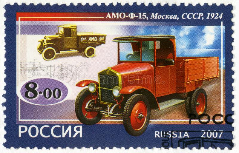 RUSSIA - 2007: shows AMO-F15 truck, 1924 royalty free stock image