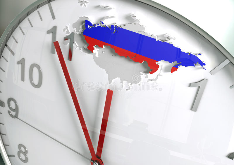 Russia countdown stock photography